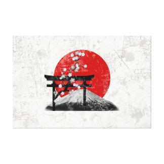 Impressão Em Canvas Bandeira e símbolos de Japão ID153