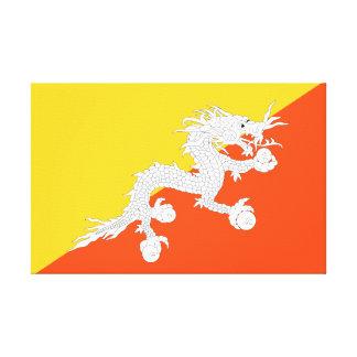 Impressão Em Canvas Bandeira nacional do mundo de Bhutan