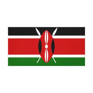 Impressão Em Canvas Bandeira nacional do mundo de Kenya