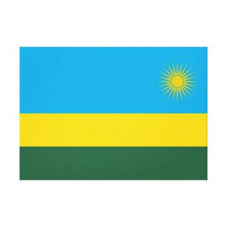 Impressão Em Canvas Bandeira nacional do mundo de Rwanda