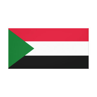 Impressão Em Canvas Bandeira nacional do mundo de Sudão