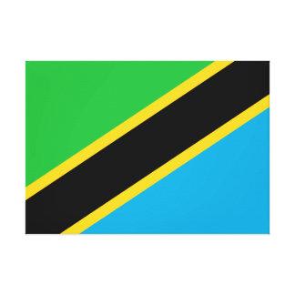 Impressão Em Canvas Bandeira nacional do mundo de Tanzânia