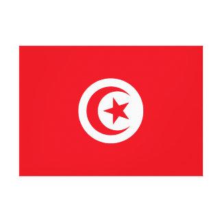 Impressão Em Canvas Bandeira nacional do mundo de Tunísia