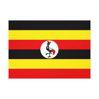 Impressão Em Canvas Bandeira nacional do mundo de Uganda