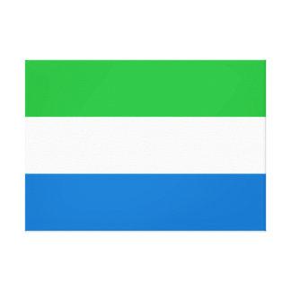 Impressão Em Canvas Bandeira nacional do mundo do Sierra Leone