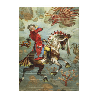 Impressão Em Canvas Baron alemão Munchausen Aventura do vintage