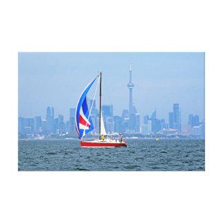 Impressão Em Canvas Beira-rio de Toronto com veleiro