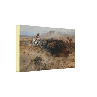 Impressão Em Canvas Belas artes a caça Charles Marion Russell do