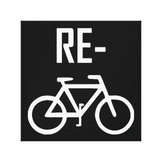 Impressão Em Canvas Bicicleta da bicicleta do reciclar