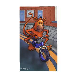 Impressão Em Canvas bicicleta do macaco