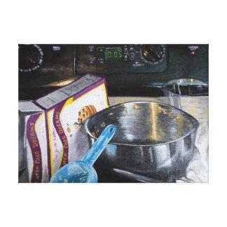Impressão Em Canvas Biscoitos do cozimento na pintura acrílica da