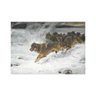 Impressão Em Canvas Bloco de Alfred Kowalski dos lobos