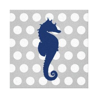 Impressão Em Canvas Bolinhas cinzentas e brancas do cavalo marinho dos