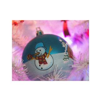 Impressão Em Canvas Boneco de neve - bolas do Natal - Feliz Natal