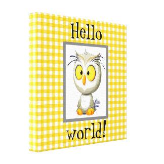 Impressão Em Canvas Branco cinzento do amarelo da cobertura do bebê da