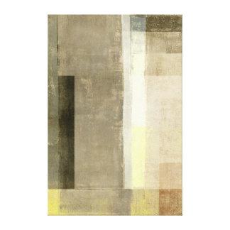 """Impressão Em Canvas Brown """"óbvio"""" e arte abstracta amarela"""