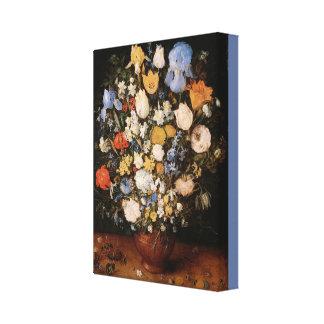 Impressão Em Canvas Buquê pequeno das flores em um vaso cerâmico