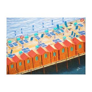 Impressão Em Canvas Cabanas da arte elegante da foto de Sorrento