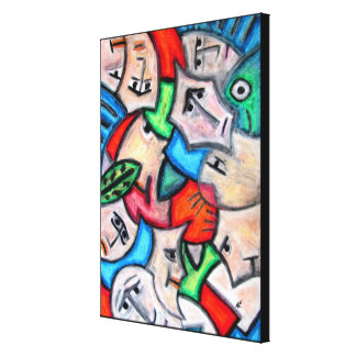 Impressão Em Canvas Cabeças Pastel pelo rafi talby