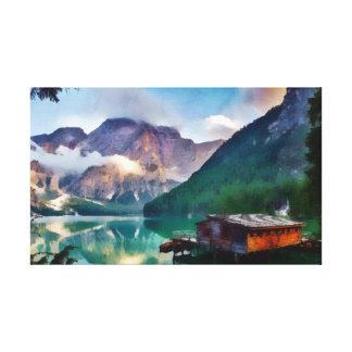 Impressão Em Canvas Cabine no lago