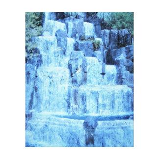 Impressão Em Canvas Cachoeira azul do gelo