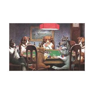 Impressão Em Canvas Cães que jogam o póquer