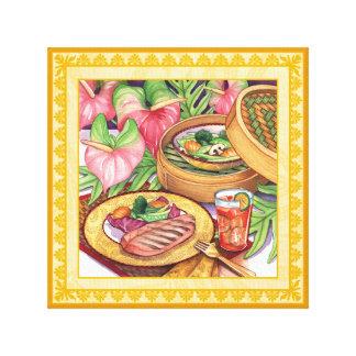 Impressão Em Canvas Café da ilha - navio a vapor de bambu