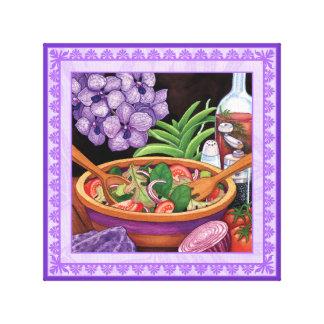 Impressão Em Canvas Café da ilha - salada tropical