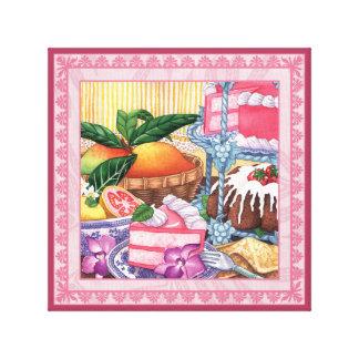 Impressão Em Canvas Café da ilha - sobremesa do Chiffon da goiaba