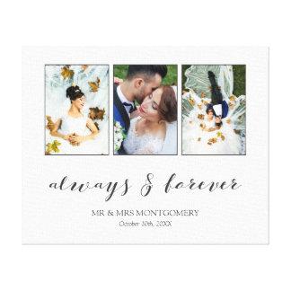 Impressão Em Canvas Caligrafia a colagem sempre & para sempre Wedding