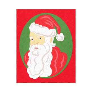 Impressão Em Canvas Cameo de Papai Noel do Natal