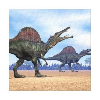 Impressão Em Canvas Caminhada dos dinossauros de Spinosaurus - 3D