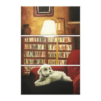Impressão Em Canvas Caniche no retrato do animal de estimação da
