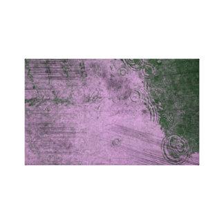 Impressão Em Canvas Canto na chuva roxa