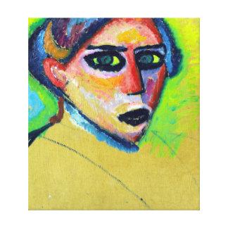 Impressão Em Canvas Cara de Alexej von Jawlensky Mulher