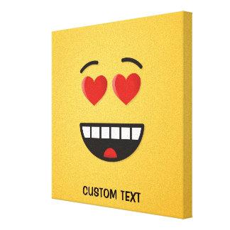 Impressão Em Canvas Cara de sorriso com olhos Coração-Dados forma