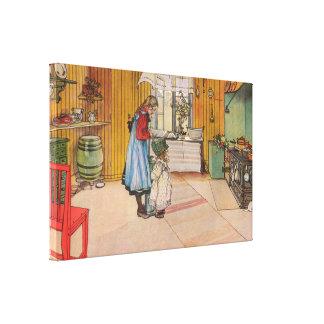 Impressão Em Canvas Carl Larsson a cozinha