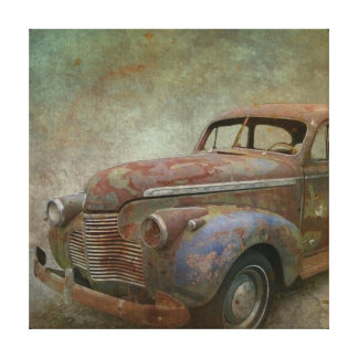 Impressão Em Canvas Carro antigo velho oxidado
