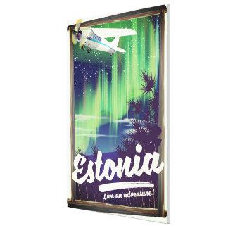Impressão Em Canvas Cartaz da aventura da aurora boreal de Estónia