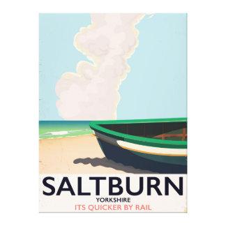 Impressão Em Canvas Cartaz das viagens vintage de Saltburn - de