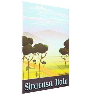 Impressão Em Canvas Cartaz do viagem da paisagem de Siracusa Italia