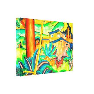 Impressão Em Canvas Casa da ilha de Honolulu em Havaí colorido e