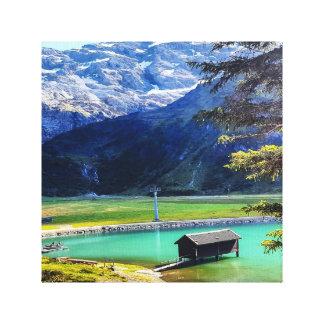 Impressão Em Canvas Casa do lago