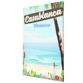 Impressão Em Canvas Casablanca Marrocos, poster vintage romântico
