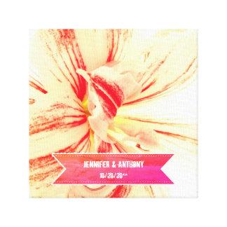 Impressão Em Canvas Casamento feito sob encomenda da flor listrada do