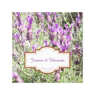 Impressão Em Canvas Casamento personalizado flores da lavanda francesa