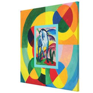 Impressão Em Canvas Cavalo e Rythme azuis Joie de Vivre