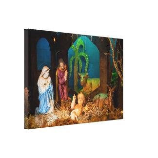 Impressão Em Canvas Cena da natividade