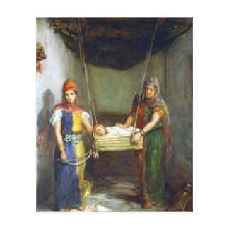Impressão Em Canvas Cena de Théodore Chassériau no quarto judaico
