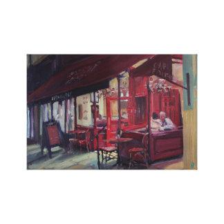 Impressão Em Canvas Cena do café